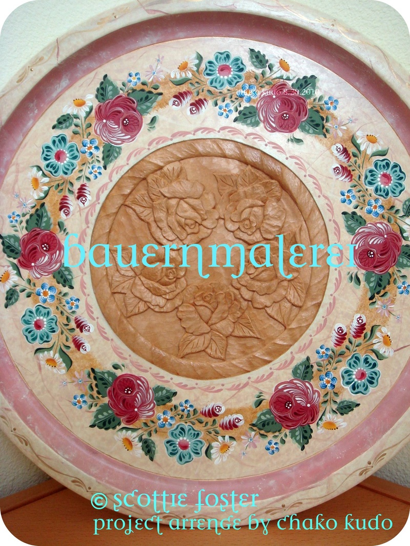 Bauernmalerei Austrian Style  20inch plate