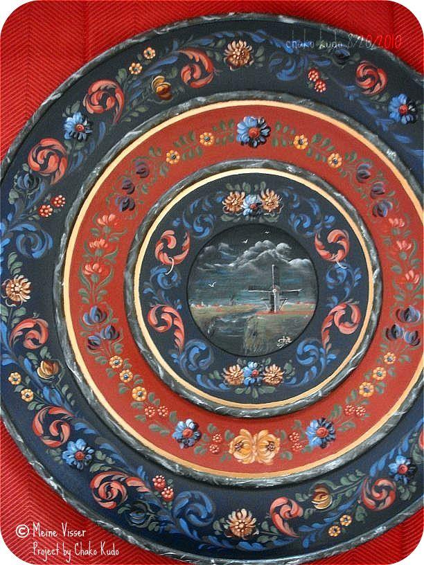 Meine Visser Style  / Large Round Plate 20inch
