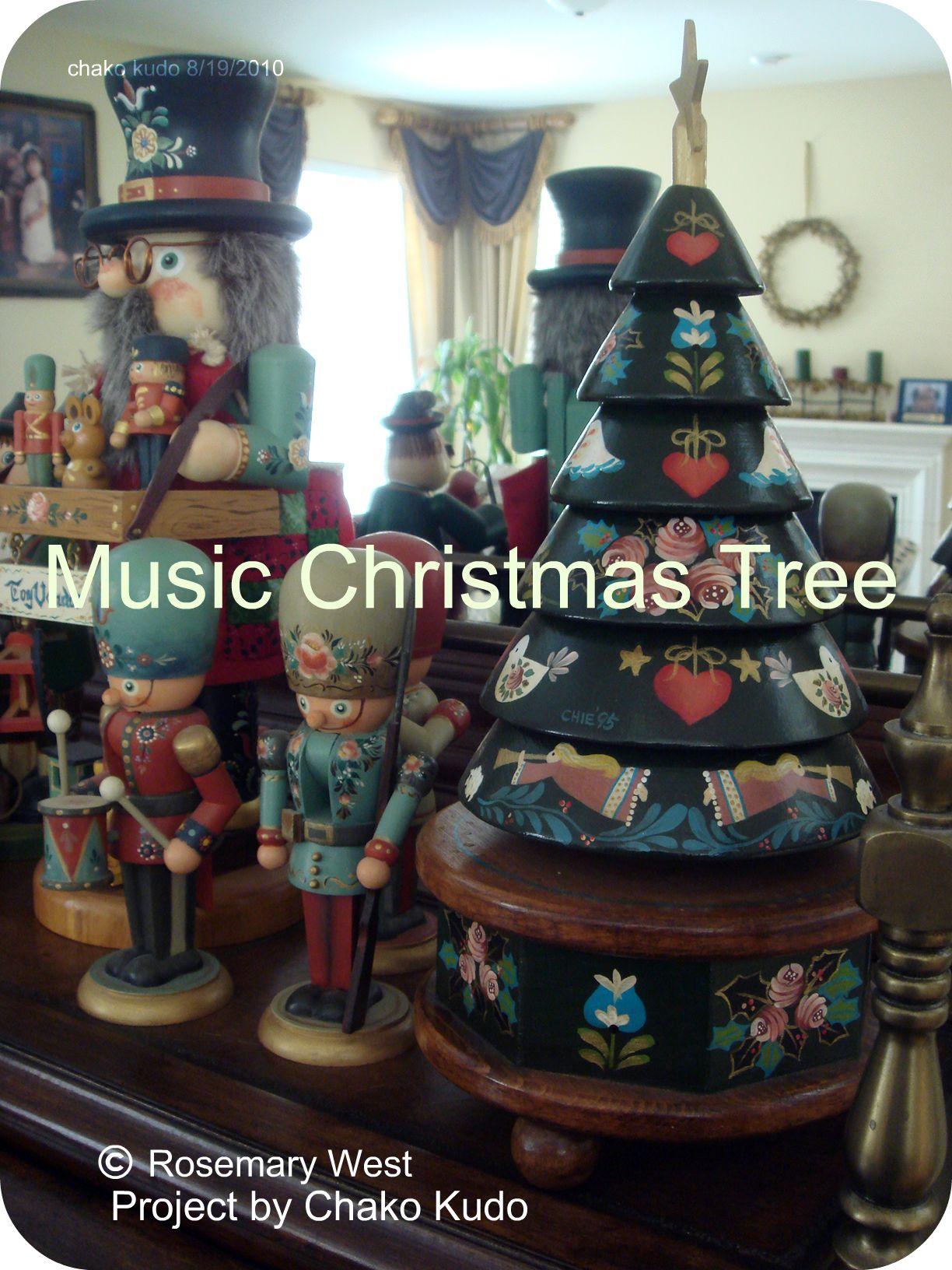 Music Christmas Tree Japanese Tole Paint Class