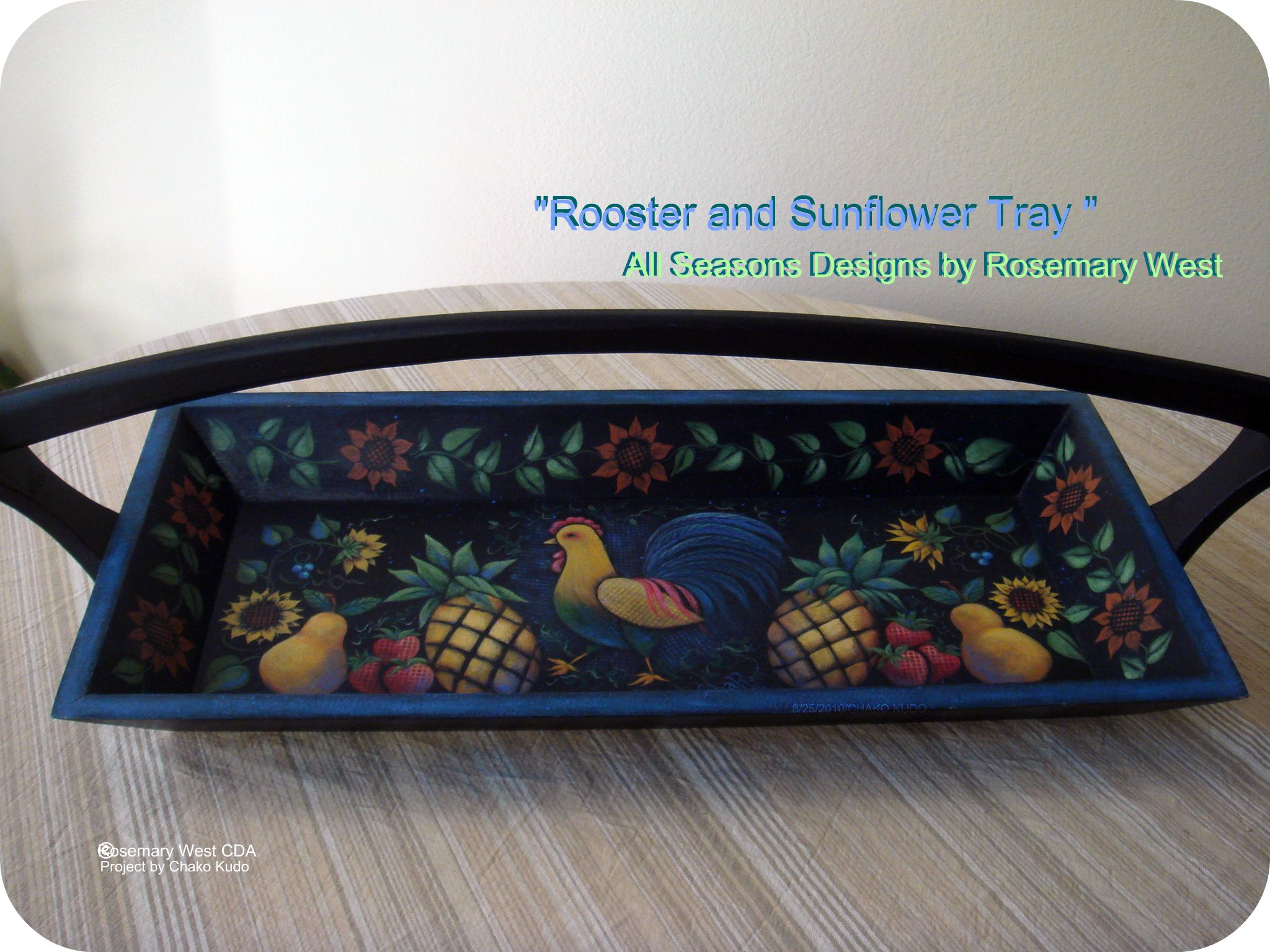 Rooster and Sunflower Tray